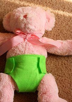 no sew felt doll diapers