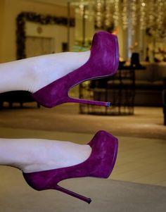 ysl purple shoes
