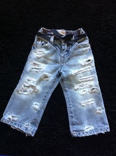Toddler girl jeans by DestroyedBySnow on Etsy https://www.etsy.com/listing/233469722/toddler-girl-jeans