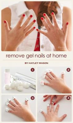 A must-read if you have gel nails! How to remove your gel nails at home without ruining your nailbeds. #mani #manicure #gel