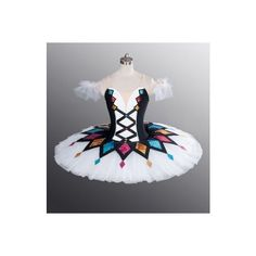 Classical Professional Ballet Tutu Made To Your Size Harlequinade 4... ❤ liked on Polyvore featuring shoes, flats, ballet flats, ballerina shoes, ballet shoes and ballerina flats