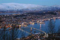 Tromso, Norway (217 miles north of the arctic circle)