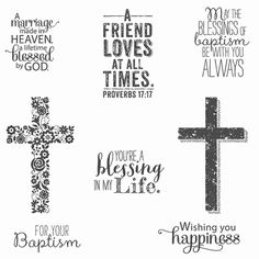 Blessed By God Clear-mount Stamp Set by Stampin' Up!