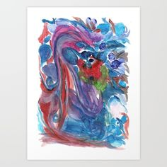 Psychic reading Art Print by Calamita - $18.00 #psychedelic #art #abstract #flowers #colours