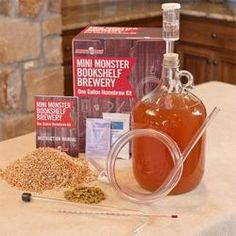 Mini Monster Bookshelf Brewery 1 Gallon Beer Kit (American Wheat)  $39.99 - Because beer is delicious and amazing.