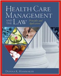 $9.29 - Health Care Management and the Law: Principles and Applications engages students who will be leading and shaping twenty-first century health care organizations. It raises questions about health law issues such as emergence of the U.S. as a player in the global health care industry, innovative new approaches to the payer/provider model, and the future of tailored therapeutics. The text provides a comprehensive overview of health law, which is relevant to both undergraduate