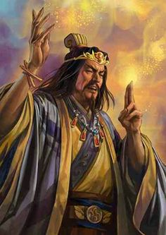 """Zhang Jue (張角) or pronounced  Zhang Jiao. """"Founder of the Yellow Scarves. Self-titled 'Lord of Heaven"""
