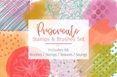 Ad: Brush Stamps / Texture for Procreate by STUDIO 17 on Create hundreds of ideas with these easy to use Procreate Textures and Stamps. Little sayings make for cute greeting cards. Use all kind of Painted Screen Doors, Stencil Designs, Digital Scrapbooking, Create Yourself, Greeting Cards, How To Apply, Lettering, Texture, Stamps