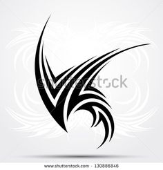 Find Sharp Tribal Tattoo stock images in HD and millions of other royalty-free stock photos, illustrations and vectors in the Shutterstock collection. Cool Tribal Tattoos, Tribal Tattoo Designs, Tribal Wings, Tribal Art, Simple Tattoo With Meaning, Tribal Images, Eagle Tattoos, Maori Tattoos, Page Borders Design
