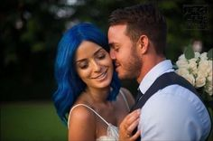 It's a #ManicPanic bride! @hannahelizabethpennell is a vision in #BlueMoon ! @tadcraigphotography