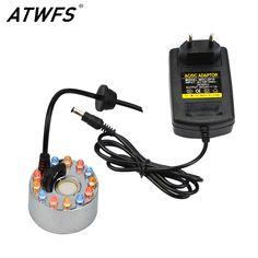 Atwfs 높은 품질의 24 볼트 12 led 초음파 안개 메이커 fogger 초음파 디퓨저 가습기 분수 분무기 분무기