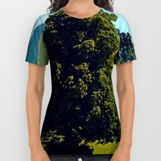 Designer Clothes, Shoes & Bags for Women Blue Tops, American Apparel, Printed Shirts, Short Sleeve Dresses, Unisex, My Style, Cotton, Stuff To Buy, Shopping