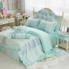 Find More Information about dreaming blue color bedding 4pcs set cotton rustic princess duvetcover set lace bedskirt queen king size purple pink bedding kit,High Quality kit bumper,China kit ignition Suppliers, Cheap bedding cotton from Queen King Bedding Set  on Aliexpress.com