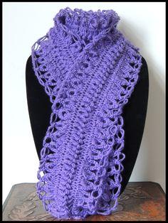 Crochet y Horquilla : Bufanda # 2