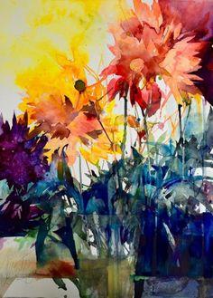 Оригинал взят у li_winogradova в акварели Elke Memmler Чудесные, живые работы, она собирает впечатления , настроения и воспоминания , а зрителю остаётся визуальное…