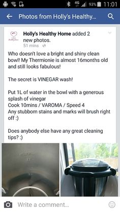 Cleaning, Healthy, Thermomix
