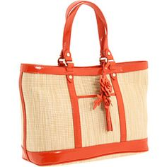 Cole Haan - Serena Small Tote Natural; cute but not orange trim, light blue would be better