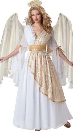 Deluxe Heavenly Angel Costume, Deluxe White Angel Costume