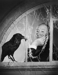 "Alfred Hitchcock by Philip Halsman - ""The Birds"" (1963)"