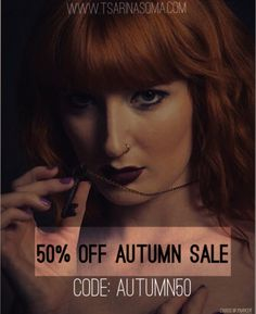 The Autumn sale is here! At the checkout use the code AUTUMN50 to get 50% off your entire order.  www.tsarinasoma.com   @laurenlascivious by @mister__parker   #womensfashion #fashion #grungegirl #bohemian #boho #grunge #fashion #halfoff #wicca #witch #jewelry #jewellery #silver #ring #midiring #aw2016 #halfprice #altfashion #love #life #beautiful #namaste #bestoftheday #fall #autumn #couponcode #discount #flashsale #sale