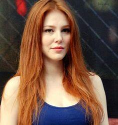 The Biography of Elçin (Eltchin) Sangu. Light Red Hair, Shades Of Red Hair, Magenta, Gorgeous Redhead, Copper Hair, Pale Skin, Ginger Hair, Woman Face, Female Bodies