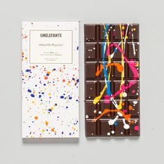 Pollock chocolate bars from UNELEFANTE.