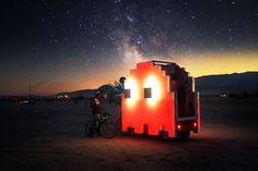 Coffee vendor at Burning Man