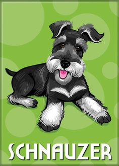 Magnet Schnauzer by doggiedrawings on Etsy, $4.00