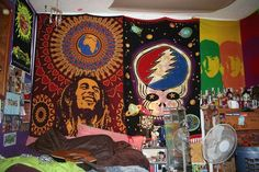 tapestries to cover the walls instead of paint. Maybe if you lived in an apartment and couldn't paint the walls. Plus i just love tapestries