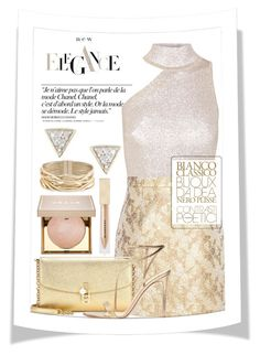 """""""Good as gold"""" by junethesev7n ❤ liked on Polyvore featuring Chanel, Cushnie Et Ochs, Michael Kors, Dolce&Gabbana, Gianvito Rossi, Rosantica, Adina Reyter, Burberry and Stila"""