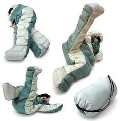 Now this makes complete sense to me...a sleeping bag with legs. No fear of mauled by bears while trapped in a sleeping bag.