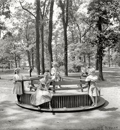 clark park merry-go-round, detroit, ca. 1900