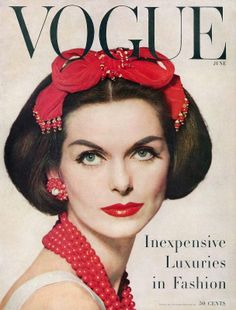US Vogue. Anne St. Marie. June 1956.