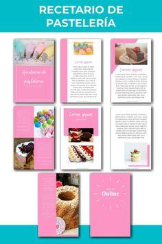 Diseño de ebook o recetario para pastelería Cover Design