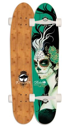 Artist: Sylvia Ji - Arbor Bug Bamboo Longboard. Beautiful and a true piece of art.