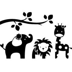 Muurstickers babykamer - Muursticker Wilde dieren | Ambiance-sticker.com