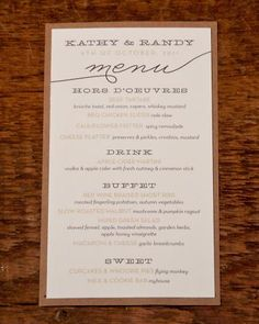 menu card.  easy to print this