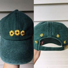 Hat Embroidery, Embroidery Flowers Pattern, Hand Embroidery Stitches, Hand Embroidery Designs, Floral Embroidery, Embroidery Ideas, Embroidered Flowers, Hand Stitching, Embroidery Fashion