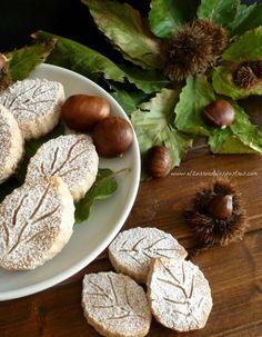 Polvorones de Castaña Spanish Desserts, Spanish Food, Mantecaditos, Coconut Cookies, Pie Dessert, Recipe For Mom, Menu, Christmas Cookies, Great Recipes