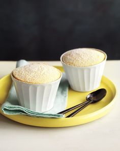 Spoon into these cakes and find a surprise: There's a delicate sauce at the bottom -- Lemon Pudding Cakes Recipe.