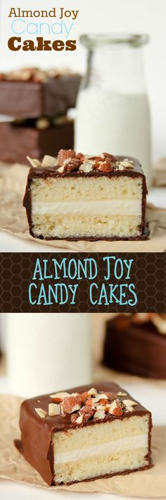 Homemade Tastykake Almond Joy Candy Cakes!! These are so so good!! Completely from scratch -- almond cake, coconut frosting, obsessed!!