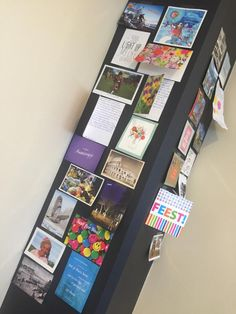 our second wall with beautiful postcards!