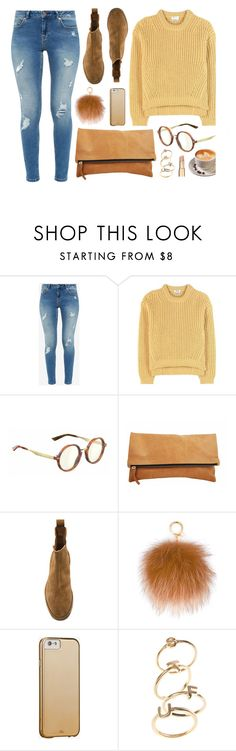 """""""Morning"""" by smartbuyglasses ❤ liked on Polyvore featuring Ted Baker, Acne Studios, Gucci, Bottega Veneta, MICHAEL Michael Kors, Case-Mate, Fall, casual, yellow and brown"""