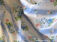 Vintage French Country Cottage Style Unused Cotton Bed Set 1 Flat Sheet 1 Fitted Sheet 2 Pillowcases 1 Bolster Cover www.fatiguedfrenchfinds.com
