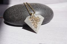 / cement necklace / cement jewelry/ Earthy necklace / Concrete and silver by BlueSouth on Etsy