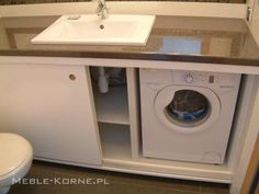 schowki w łazience, zabudowa pralki, storage in the bathroom, washing machine…