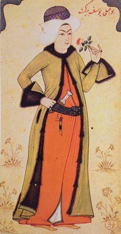 Minyatür-miniature. A youth. Levni, 18th century.