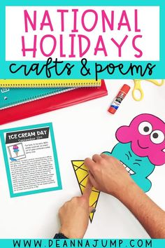 Throughout the year there are silly national holidays that you can celebrate with your student! These funny national holiday crafts are a great way to do that. In August and September, you can create a craft for Johnny Appleseed Day, Talk Like a Pirate Day, and Ice Cream day!