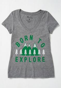 Discovery Lover T-Shirt. From geocaching treasures to this gem of a graphic tee, you're down for surprises. #grey #modcloth