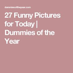 27 Funny Pictures for Today | Dummies of the Year